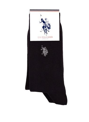 U.S. Polo Assn. 2'li Çorap Siyah